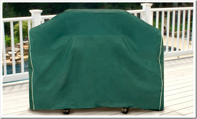 Hunter Green Medium Cart Style BBQ Grill Cover
