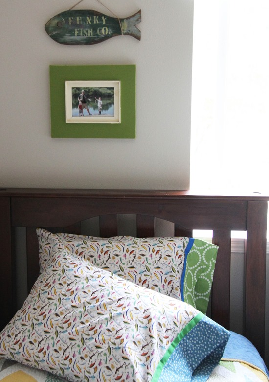 Cluck Cluck Sew Fishing Pillowcases