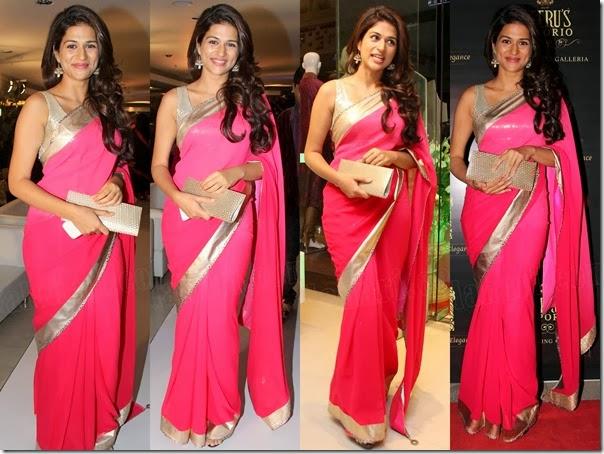 Shraddha_Das_Pink_Saree