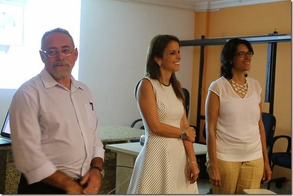 Gerardo Guará,Sec. da Sethas Julianne Faria, Sec. Adj. Maira Almeida