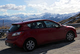Our Red Mazda3 Takes Us Anywhere We Want To Go - Enroute to Queenstown, New Zealand