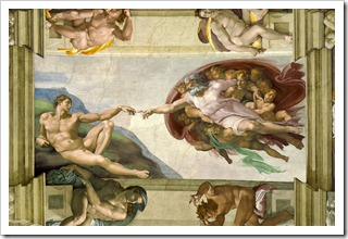 the creation of adam michelangelo