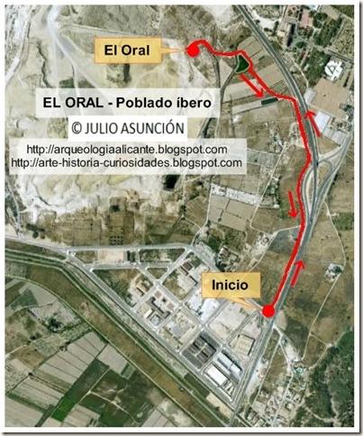 Mapa poblado íbero de El Oral