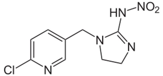 Structure of Imidacloprid. The world's most widely used insecticide is devastating dragonflies, snails, and other water-based species. Graphic: NEUROtiker