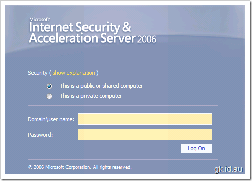 Securing your SharePoint Sites with ISA 2006 using Forms Based Authentication – Part 2/2