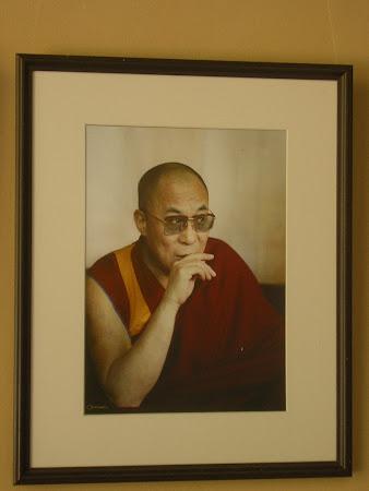 Picture of Dalai Lama in a bar in Havana, Cuba