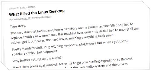 Il fondatore di Gnome dichiara che il desktop Linux è morto
