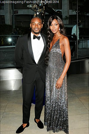 Tyson Beckford and Naomi Campbell