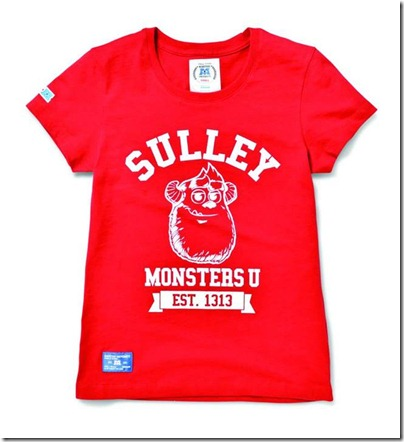 Monster University X Giordano - Red Tee Shirts