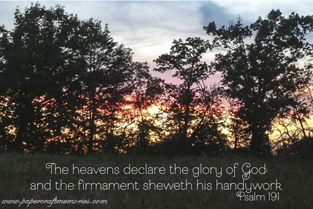 Psalm 19:1 WORDartbyKaren sunset