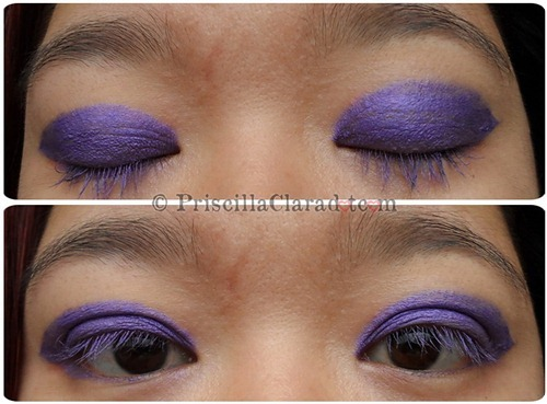 Priscilla Clara beauty blogger IBB MUC Maybelline Color Tattoo Painted Purple eye makeup FOTD look