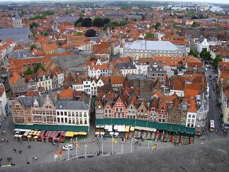 Obiective turistice Belgia: Piata centrala Bruges