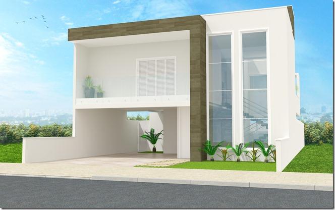 Projeto residencial  Sorocaba - fachada frontal 1