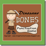Dinosaur Bones PUnctuation Game for 1st Grade