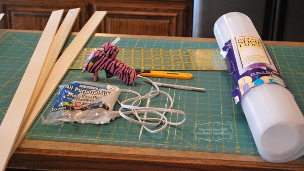Supplies for custom drawer organizer