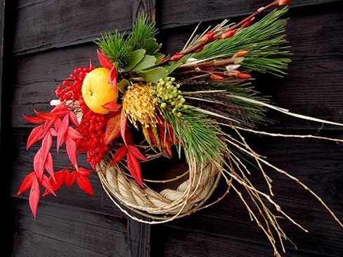 Japanese rice straw wreath