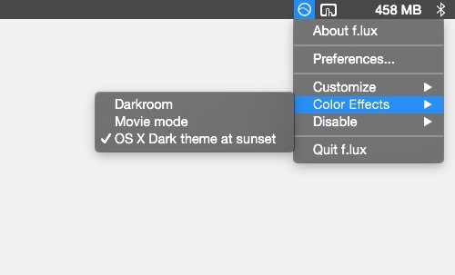 Flux yosemite dark theme
