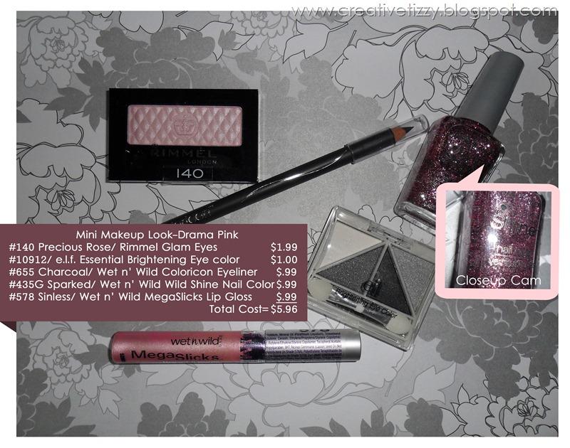 Mini Makeup Look-Drama Pink with closeup official
