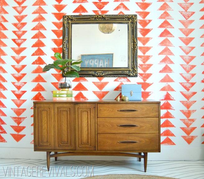 Mid Century Thrifted Dresser