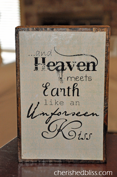 Heaven Meets Earth Wooden Block