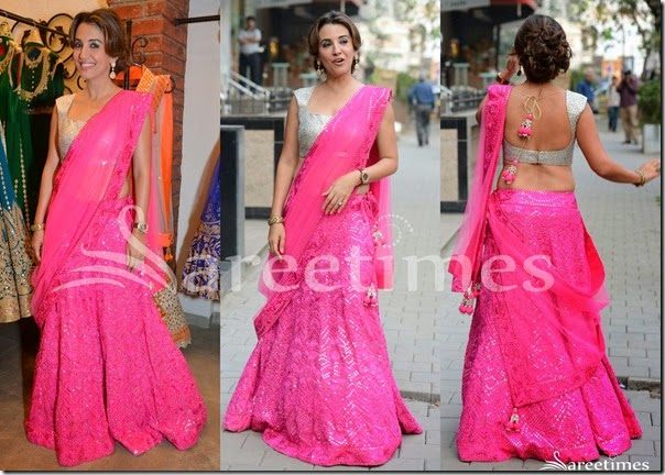 Pink_Embellished_Half_Saree