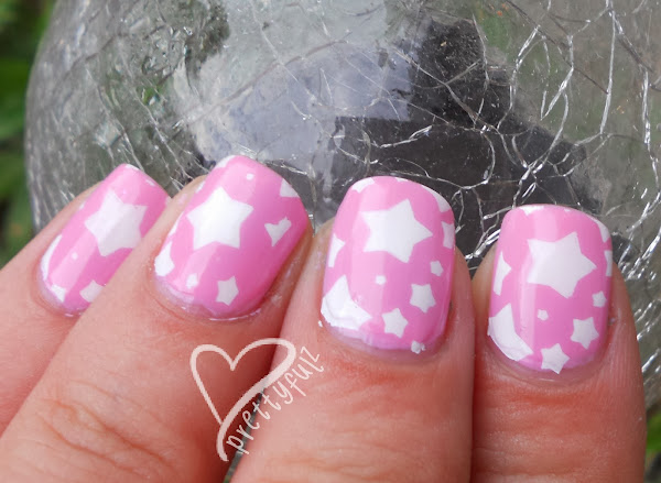 Cutepinkstarnailartdesign2 White Nail Art Designs