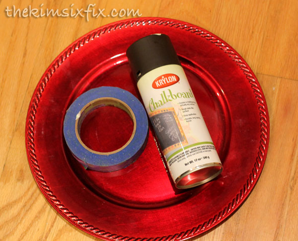 Chalkboard charger supplies