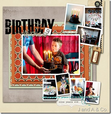Jex's ninth birthday copy