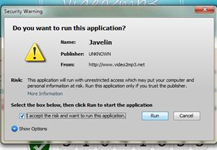 run ให้ java ทำงานดาวน์โหลด video เป็น mp3