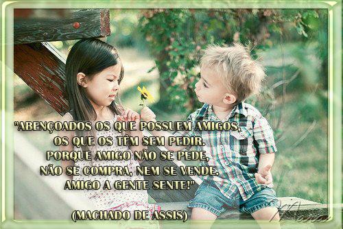 Amizade Abençoados os que possuem amigos Os que te