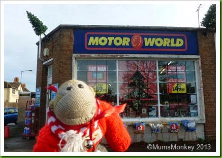 Bilbrook Motorworld window Christmas 2013