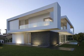 Fachadas blancas por architrend architecture italia arquitexs - Casa prefabbricata moderna ...