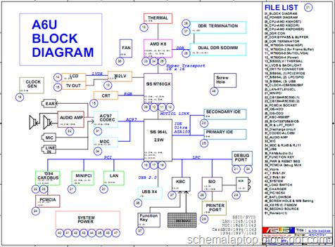 asus a6u laptop schematics ~ free schematic laptop diagram, Wiring schematic