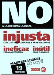 Espanha contra a Reforma Laboral.Fev.2012