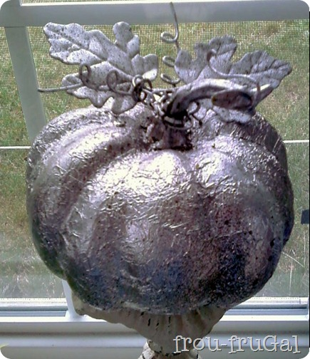 Faux Mercury Glass Pumpkin