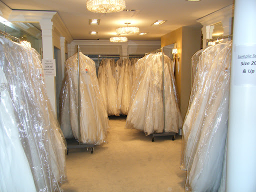 Kleinfeld actually has an INCREDIBLE selection of plus size wedding gowns. Look at this entire room just full of them!