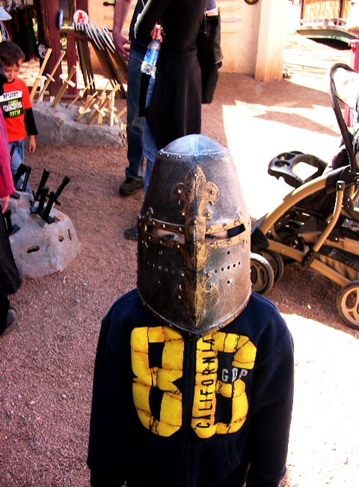 Christian in the helmet