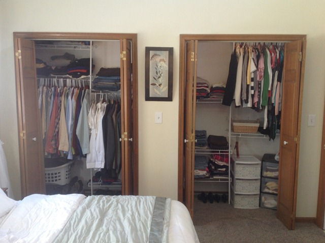 Closet after