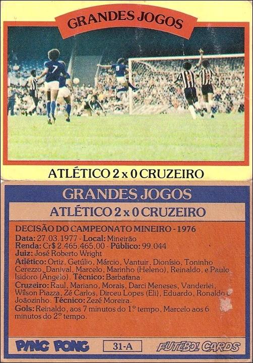 31-A - Atlético 2x0 Cruzeiro