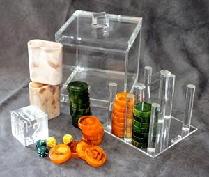 Alyce Simon Lucite backgammon set