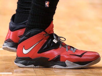 lebron james nba 140528 mia at ind 15 game 5 Closer Look at LeBrons Nike Zoom Soldier VII PE (Game 4 & 5)
