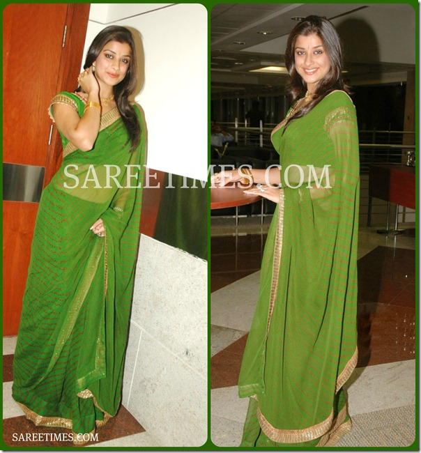 Madhurima_Green_Designer_Sari