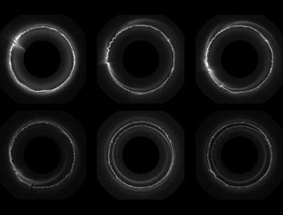 atividade no anel F de Saturno