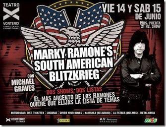 Marky Ramone en buenos aires 2013 entradas baratas para dos recitales en mejores lugares vip