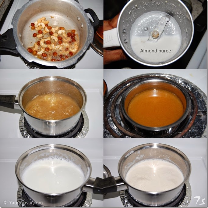 Cracked wheat payasam process