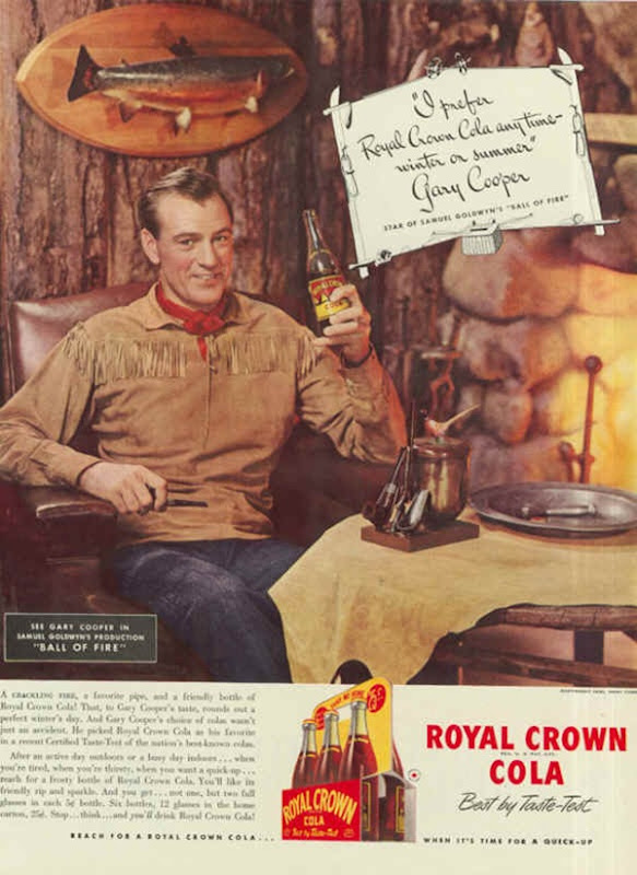 Royal Crown Cola Gary Cooper
