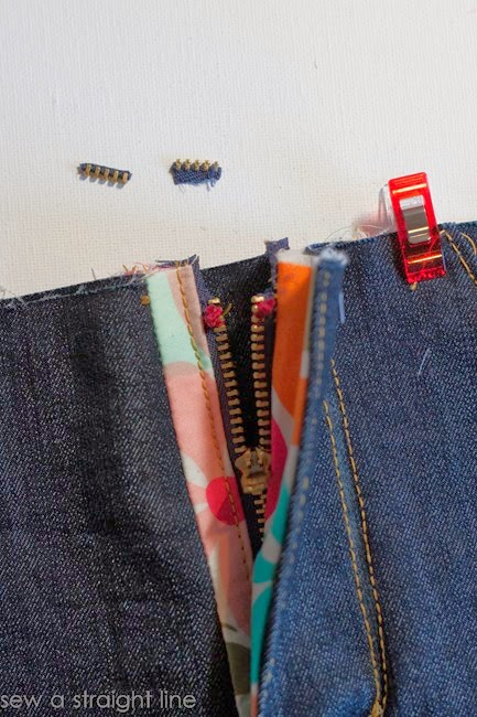 zipper fly jeans sew along sew a straight line-36