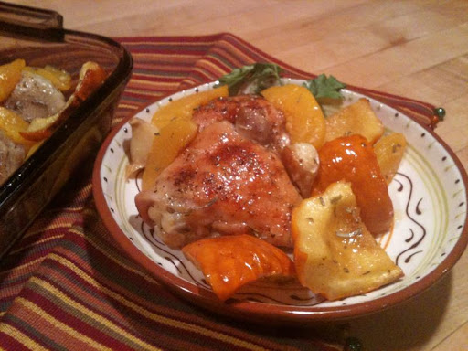 Sweet and Savory Chicken and Squash Bake; Edith Dore