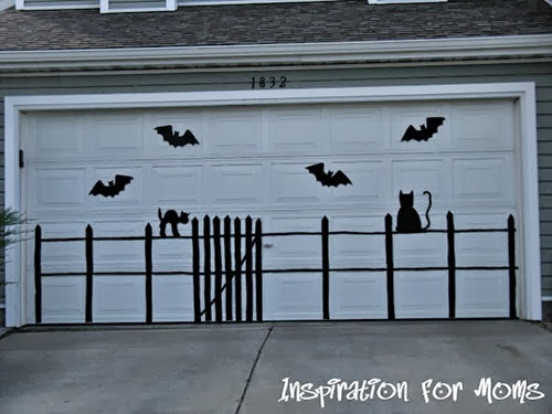 Bat and Cat Garage Door 002