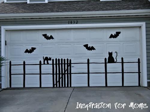 Bat and Cat Garage Door 002